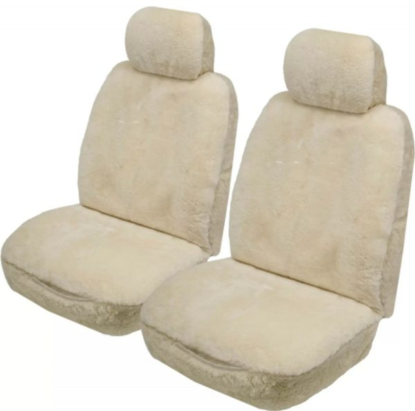 Sheepskin Car Seat Covers - Side Air Bags Ozwool Australian Sheepskin Ivory Sheepskin Car Seat Cover