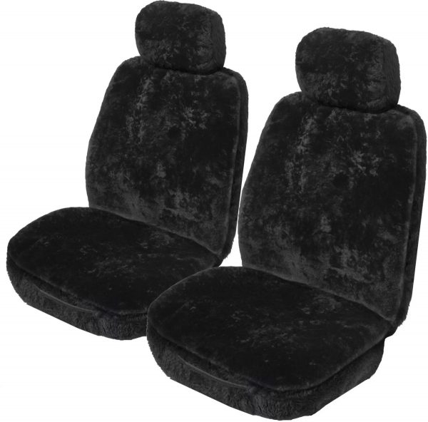 Sheepskin carseat cover black
